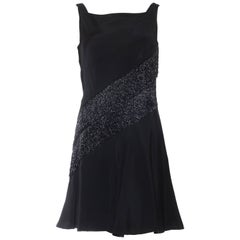 Mr Blackwell Beaded Fringe Cocktail Dress