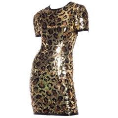 Shimmering Leopard Sequin Dress