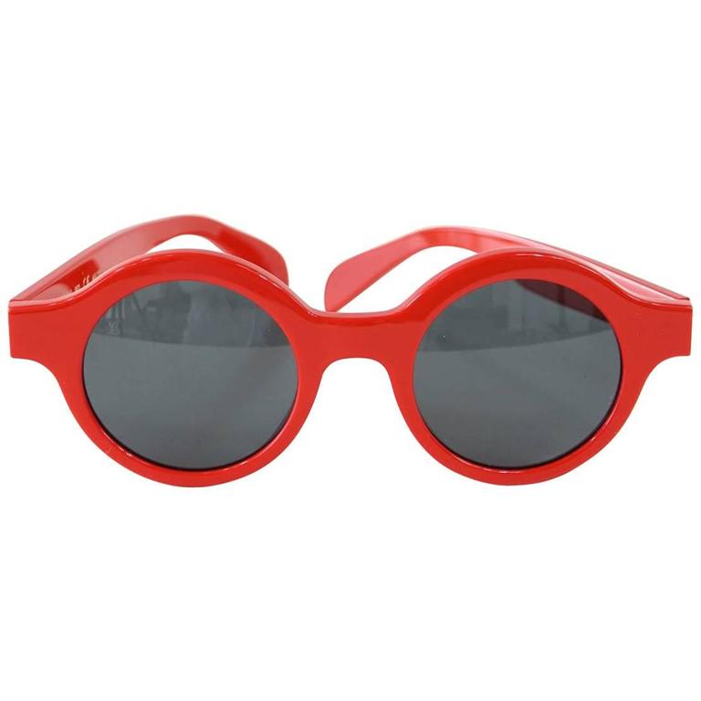 6c4e8411a40 Louis Vuitton Supreme X Ltd Ed Round Red Downtown Sunglasses at 1stdibs