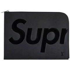 Louis Vuitton Supreme X Black Pochette Epi Jour GM Clutch Case