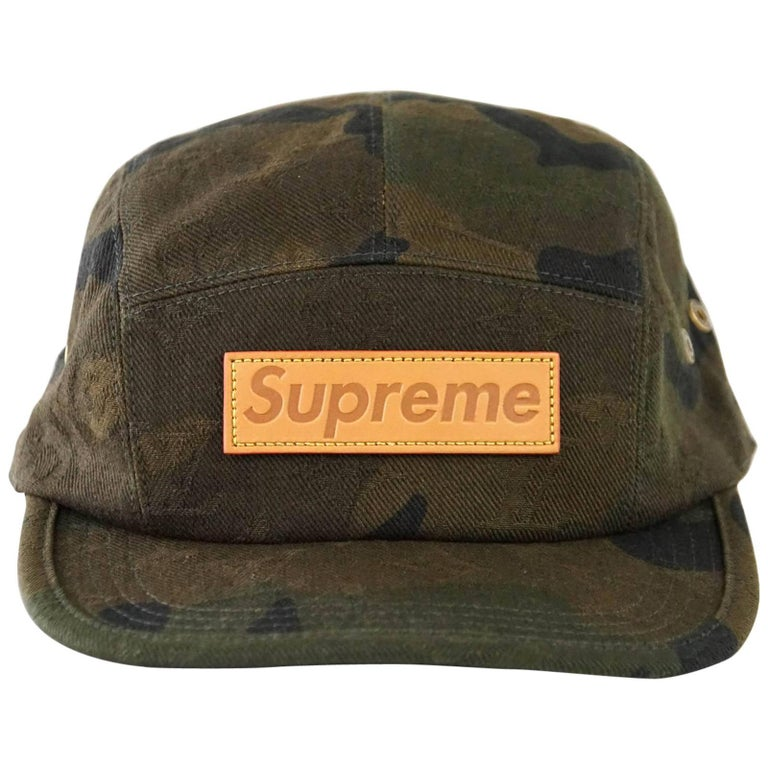 Louis Vuitton Supreme X Limited Edition 5 Panels Camouflage Cap For Sale f0366d45440