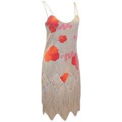 Y&Kei Runaway  fabulous flapper hand beaded fringe  dress