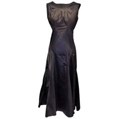 Jean Paul Gaultier spectacular maxi dress/ gown  with zipper back MUST HAVE!