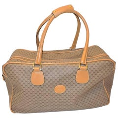 Gucci Vintage Authentic micro gg pattern logo carry on travel bag