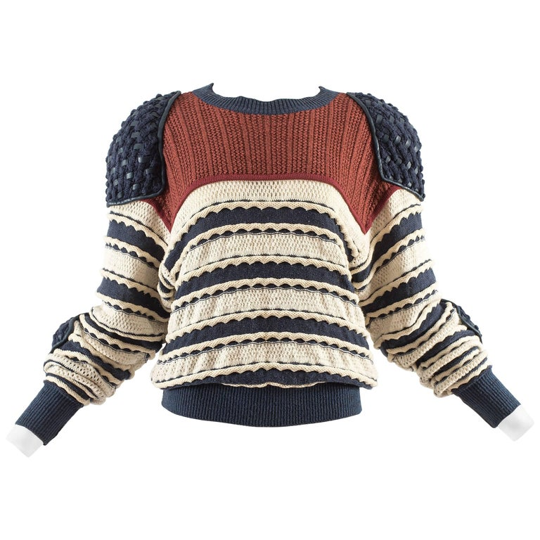 Issey Miyake Spring-Summer 1983 knitted sweater  1