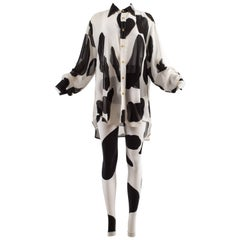 Vivienne Westwood Spring-Summer 1990 'Pagan V' cow print chiffon pant suit