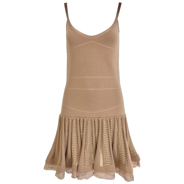 No.21 Alessandro Dell'Acqua Light Mauve Pink Knit Spaghetti Strap Dress