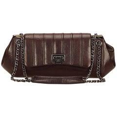 Chanel Brown Lambskin Leather Reissue Flap Shoulder Bag