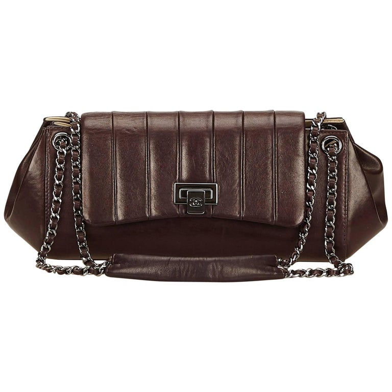 Chanel Brown Lambskin Leather Reissue Flap Shoulder Bag 1