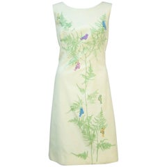 Cute C.1970 Serbin 'Miami Style' Dress With Appliques