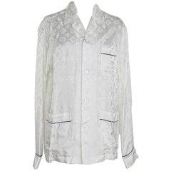 Louis Vuitton Supreme X Limited Edition White Pyjamas Top as seen Celine Dion M
