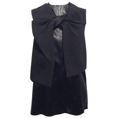 Céline Black Sleeveless Top with Twist Detail Size 36