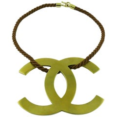 Chanel Runway Jumbo CC Logo Necklace RTW Spring Summer 2005