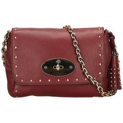 Mulberry Red Studded Leather Lily