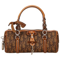 Dior Brown PVC Diorissimo Romantique Handbag