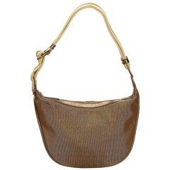 Gucci Gold Jacquard Shoulder Bag