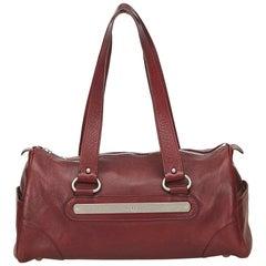Chloe Red Leather Shoulder Bag