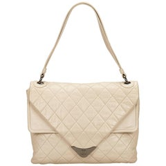 Chanel White Lambskin Flap Bag