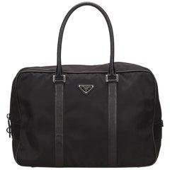 Prada Black Nylon Duffel Bag