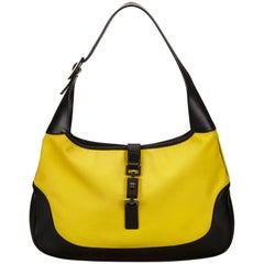Gucci Yellow Canvas Jackie