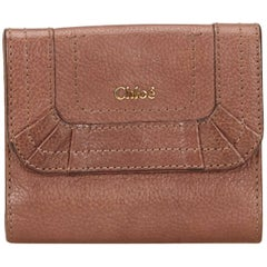 Chloe Brown Leather Paraty Wallet