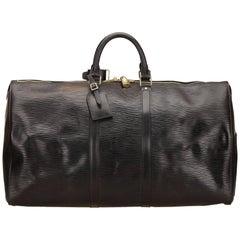Louis Vuitton Black Epi Keepall 55