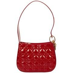 Dior Red Leather Cannage Shoulder Bag