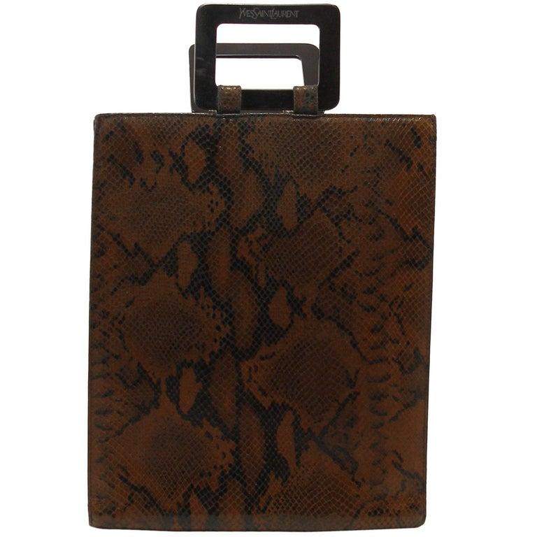 Yves Saint Laurent Ysl Vintage handbag in Python Leather