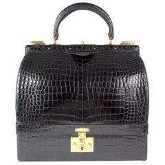 Hermes Vintage Croc Macpherson Bag circa 1950s/1960s