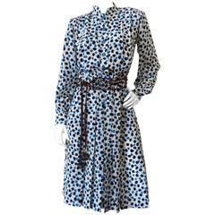 1980s Saint Laurent Secretary Paint Dot Dress