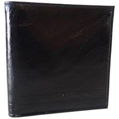 1990s Christian Dior Black Leather Biofold Wallet