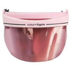 1970s Courreges Pink Sport Future Visor
