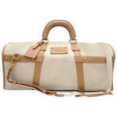 Louis Vuitton Sac Neverfull 50 Toile Trianon Canvas Travel Boston Bag + Strap