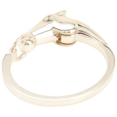 Hermes Solid Silver Iconic Horse Bracelet PM Standard