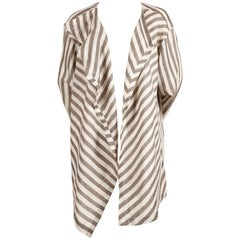 1980's ISSEY MIYAKE lightweight striped cotton jacket