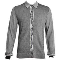 McQ Black and White Multi Pattern Knit Cardigan SS13 RTW MENS SAMPLE