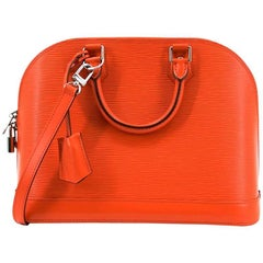 Louis Vuitton Orange Alma PM Epi