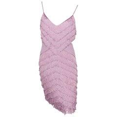 Dior Boutique Dress Fringes Parme S size or 38 / EXCELLENTE CONDITION
