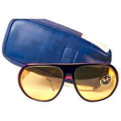 New Vintage Ray Ban B&L Blazer Ambermatic Mirror Lenses Sunglasses USA