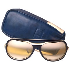 New Vintage Ray Ban B&L Powderhorn Double Mirror Ambermatic Lenses Sunglasses US