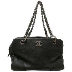 Chanel Black leather silver Hardware Shoulder Bag