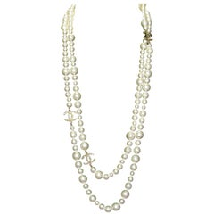 Chanel Long Pearly Pearls Necklace