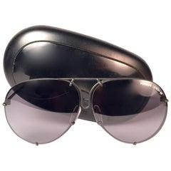 New Vintage Porsche Design By Carrera 5623 Black Matte Large Sunglasses Austria