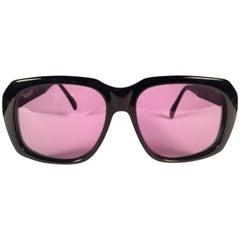 "New Vintage Ultra "" Goliath "" Black British Hand Made Oversized 1980's Sunglasse"
