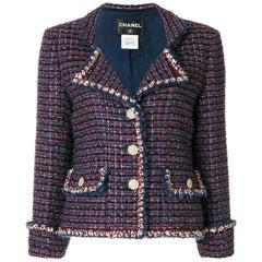 Chanel Blue Bouclé Jacket
