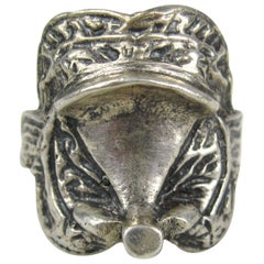 Vintage Sterling Silver Mexican Horse Saddle Ring