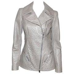 FAN-TAS-TIC Jitrois Jean Claude Leather Jacket grey Autruche / BRAND NEW