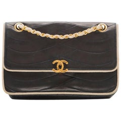 Chanel Navy Leather Bag