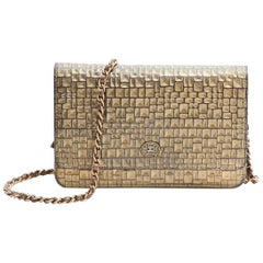CHANEL Mini Flap Bag in Golden Aged Embossed Lamb Leather