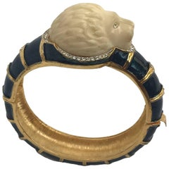 Lion Bangle Bracelet by Hattie Carnegie